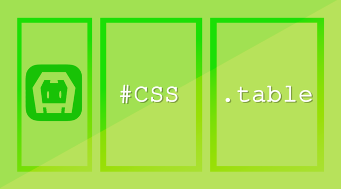 CSS table, struttura base per il layout di una tipica app mobile