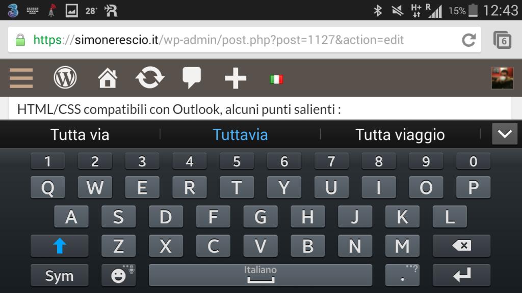 Impossibile scrivere con la tastiera landscape causa elementi sticky