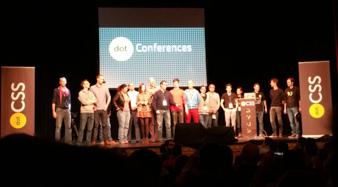 DotCSS && DotJS conferences @ Paris 2014