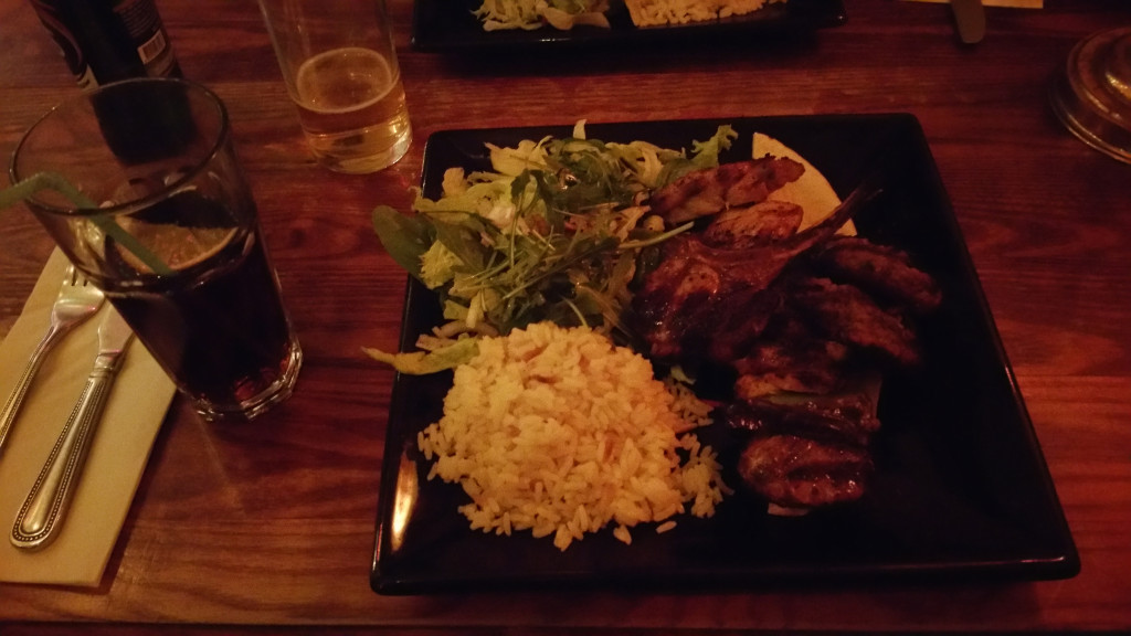 Gallipoli Bistro, mixed grill (only 13£)