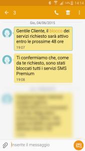 Barring SMS H3G, blocco servizi premium