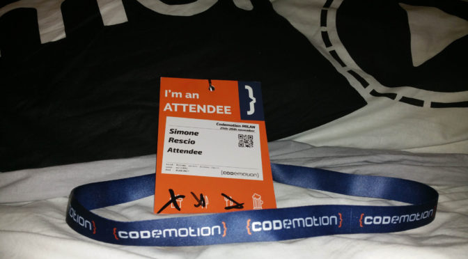 Codemotion 2016 @ Milano